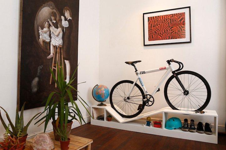 Mobili Progettati Per Le Biciclette In Piccoli